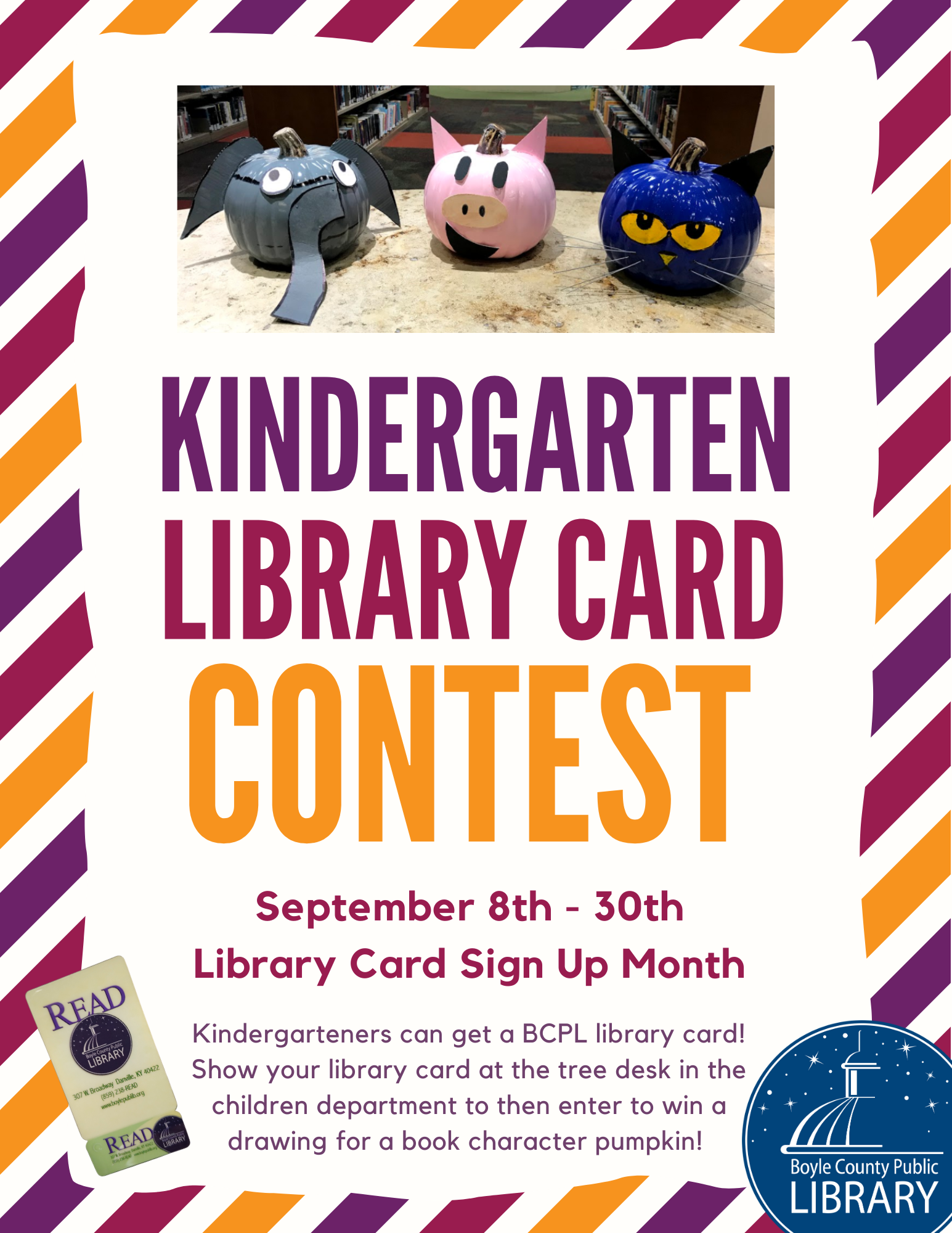 Kindergarten Library Card Contest