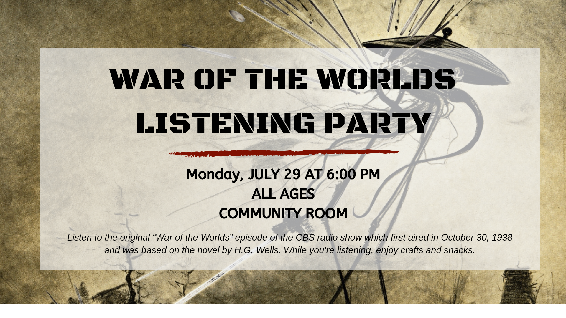 War of the Worlds Listening Party