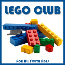 Lego Club. For all youth ages.